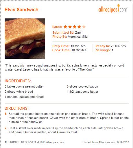 Elvis Sandwich